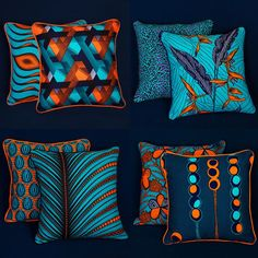 African Style 702561610596205907 - Omg the colours are popping. African homes – beautiful vibrant wax print cushions Source by delooscatherine
