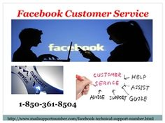 """""""Go through the reasons to know that why everyone is availing our Facebook Customer Service: You will be provided with the cent-percent solution for your problems by our techies. Your Facebook experience will be enhanced. 24/7 availability. So, put a call on our toll-free number 1-850-361-8504. http://www.mailsupportnumber.com/facebook-technical-support-number.htm"""""""