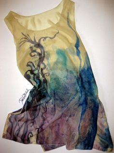Hand painted tunic scarves by artist janvonbokel.com