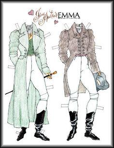 Jane Austen EMMA_Capt. Wentworth paper doll