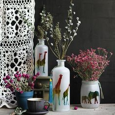 This out of Africa series were inspired by the wild Africa. Handmade vases with matte finish.