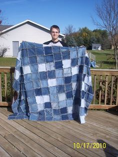 I would love a denim quilt!  think of the weight of it :-)