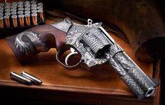 One Of A Kind Engraved Nighthawk Korth Revolvers Weapons Guns, Airsoft Guns, Guns And Ammo, Revolver Pistol, Custom Guns, Metal Engraving, Cool Guns, Bushcraft, Firearms