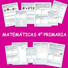 Indice de contenido1 Recursos para el Aula: Matemáticas para cuarto de primaria1.1 Fichas de 4º de primaria de Matemáticas1.2 Fichas