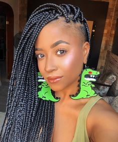 24 Inches length Jumbo Box Braids Kanekalon single color Braiding Xpression Hair, single color, 32 colors optional, As shown in the picture. Shaved Side Hairstyles, African Braids Hairstyles, Braided Hairstyles, Stylish Hairstyles, Dreadlock Hairstyles, Latest Hairstyles, Wedding Hairstyles, Box Braids Shaved Sides, Locs