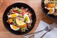 Bulgur s tuniakom a zeleninou | foodissimo Eggs, Breakfast, Ethnic Recipes, Fitness, Bulgur, Morning Coffee, Egg, Egg As Food