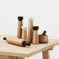 Craft peper en zoutmolens van Normann Copenhagen.