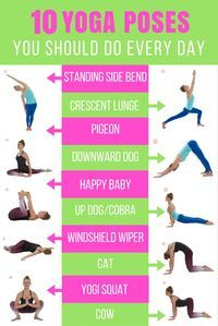 No matter where you find yourself on your fitness journey there is one thing we all have one thing in common: the need to stretch. Here are the 10 yoga poses you should do every day!