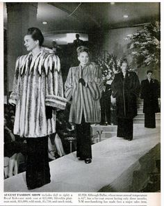 1945 Fashion - Fur Coats