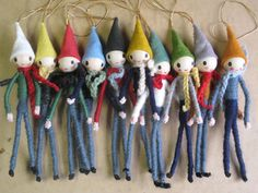 Group of 10 Christmas Pixies/Elves. by cupboardofdelights on Etsy
