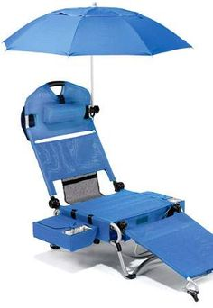 Complete beach lounger from Wacky Travel Gadgets. Well this would be the perfect chair...