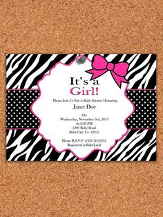 Hey, I found this really awesome Etsy listing at http://www.etsy.com/listing/153253728/printable-invitation-zebra-baby-shower
