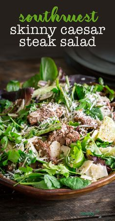 Skinny Southwest Caesar Steak Salad a perfect lunch, especially when you're eating low carb — Cheeky Kitchen