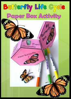 Let your students explore the butterfly life cycle with this hands-on learning activity! With the pattern included, they will build a box with the stages of the butterfly life cycle. Learning Activities, Teacher Resources, Teaching Ideas, Science Resources, Classroom Activities, Life Cycle Stages, Butterfly Life Cycle, Do It Yourself Home, Life Cycles