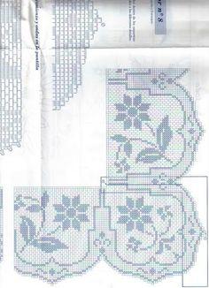 Crochet Borders, Filet Crochet, Lace Making, Blankets, Crochet Tutorials, Cross Stitch Embroidery, Towels, Farmhouse Rugs, Crochet Edgings