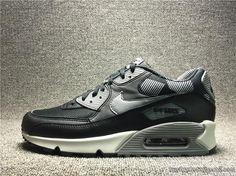 Men's Nike Air Max 90 Print Max90 Original Running Shoes Breathable 749817-010 Black Gray #Air Max 90 #max90#sneakers#popular