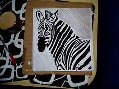 Zebra - image of a modern Zebra obraz nowoczesny http://selawiart.blogspot.com/2014/11/zebra-obrazek-prawie-3d-na-sciane.html