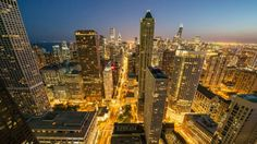 Time-lapse Vídeo: Cityscape Chicago