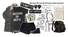 """""""Well, that's a rant..."""" by choice-to-be ❤ liked on Polyvore featuring Vintage, Worn Free, Levi's and Converse"""
