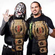 TNA World Tag Team Champions Matt and Jeff Hardy