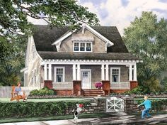 ePlans Craftsman House Plan – Beckoning Bungalow – 1097 Square Feet and 4 Bedrooms from ePlans – House Plan Code HWEPL76613