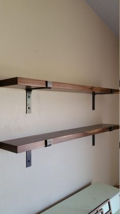 New Kitchen Shelves Modern Shelf Brackets Ideas Walnut Shelves, Diy Wood Shelves, Solid Wood Shelves, Metal Shelves, Kitchen Shelves, Floating Shelves, Glass Shelves, Pallet Shelving, Reclaimed Wood Shelves