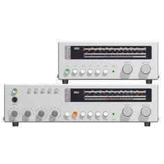 """searchsystem: """"Dieter Rams / Braun / Regie 510 & Tuner CE 500/501 / Audio System / 1959 """""""