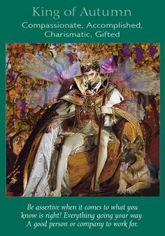 Oracle Card King of Autumn | Doreen Virtue | official Angel Therapy Web site