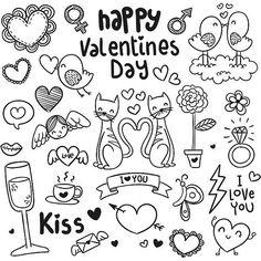 En güzel dekorasyon paylaşımları için Kadinika.com #kadinika #dekorasyon #decoration #woman #women free vector Happy Valentines Day Icons Background