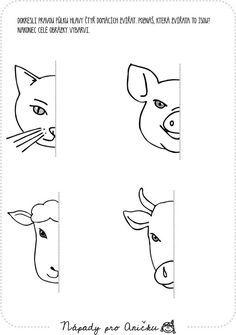 Farm Animal Crafts, Farm Animals, Teaching Math, Kids Education, Primary School, Preschool Activities, Diy For Kids, Worksheets, Drawings
