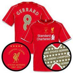 Liverpool Football Shirt LEGEND GERRARD Replica Jersey