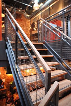 Stairway Railing Ideas Discover country stair railing ideas only in interioropedia design Stairway Railing Ideas, Outdoor Stair Railing, Metal Stair Railing, Interior Stair Railing, Stair Railing Design, Exterior Stairs, Stair Handrail, Staircase Railings, Stairways