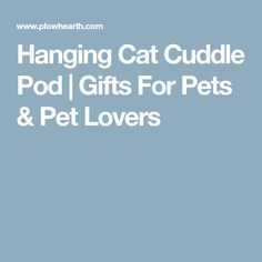 Hanging Cat Cuddle Pod | Gifts For Pets & Pet Lovers