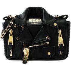 Moschino Shoulder Bag (65,665 DOP) ❤ liked on Polyvore featuring bags, handbags, shoulder bags, black, handbags shoulder bags, shoulder handbags, hand bags, moschino and purse shoulder bag