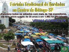 Feirinha Tradicional do Centro. Ibitinga(SP) a Capital Nacional do Bordado. Centenas de Barracas funcionam aos sábados desde as primeiras horas da madrugada, nas áreas centrais no entorno à Igreja Matriz.
