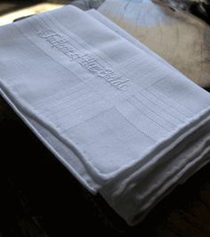Embroidered Hankie for the FATHER OF THE BRIDE