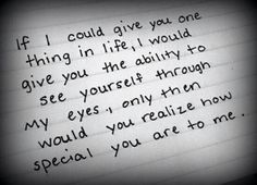 If I could give you one thing...