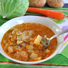 Shchi is a traditional Russian soup with cabbage as the primary ingredient. It's hearty, healthy and easy to make.