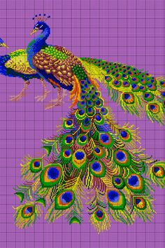 Peafowl Cross Stitch Pattern by Mostafa Moharrami fard, You can cause really special habits for fabrics with cross stitch. Cross stitch types may very nearly surprise you. Cross stitch novices could make the types they desire without difficulty. Cross Stitch Tree, Beaded Cross Stitch, Cross Stitch Animals, Cross Stitch Flowers, Cross Stitch Charts, Cross Stitch Designs, Cross Stitch Embroidery, Embroidery Patterns, Cross Stitch Patterns