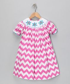 Take a look at this Hot Pink Zigzag Bishop Dress - Infant & Toddler by Marjories Daughter on #zulily today!