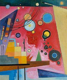 "Wassily Kandinsky - ""Heavy Red"", 1924"