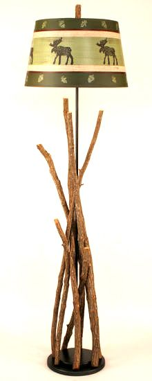 Stick Floor Lamp w/ Moose Shade