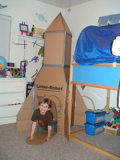 Carboard Rocket Ship | MAKE: Craft dramatic play special activity