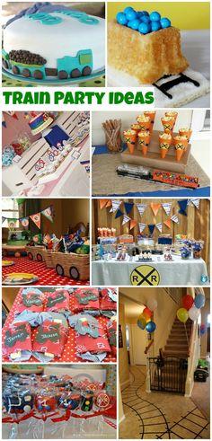 Train Party Ideas (Collection) - Moms & Munchkins - - My MartoKizza Thomas Birthday Parties, Thomas The Train Birthday Party, Trains Birthday Party, Train Party, Birthday Party Themes, Birthday Ideas, Pirate Party, Third Birthday, Birthday Fun