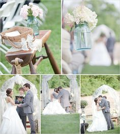 Trend: jars jars everywhere. For the savvy DIY bride jars of all shapes and sizes can be used for any decor you can imagine and at a fraction of the cost. This pictured use is stunning.