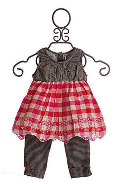 Catimini Little Girls Summer Dress Red Gingham $79.00