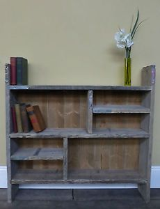 Bookshelf made our of scaffolding planks