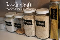 Custom Vinyl labels for Pantry Canisters by doodlesbynoodles, $15.00
