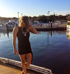The perfect LBD for the summer. Wearing the Paragon Dress from Sabo Skirt.