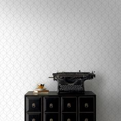 38d440e39dc Graham   Brown Myrtle Geo White and Silver Removable Wallpaper - 104121 -  The Home Depot